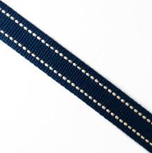 深藍米點/2.5公分提帶